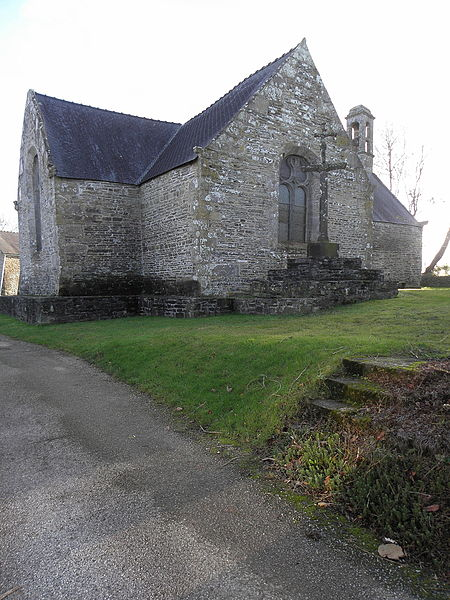 Photo du Monument Historique Chapelle Saint-Aubin, située au hameau de Lanvaïdic situé à Port-Launay