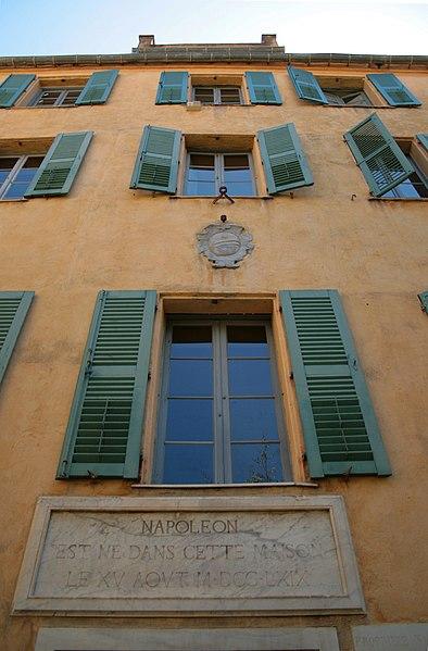 Photo du Monument Historique Maison de Napoléon Bonaparte situé à Ajaccio