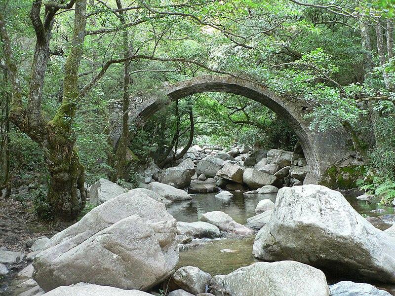Photo du Monument Historique Pont de Zaglia situé à Evisa