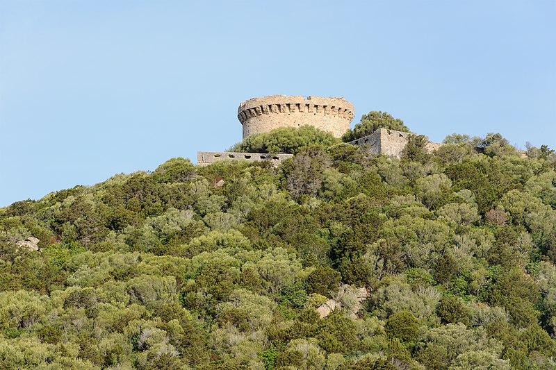 Photo du Monument Historique Tour de Campomoro et son enceinte fortifiée situé à Belvédère-Campomoro