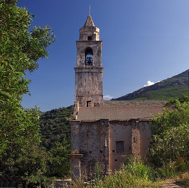 Photo du Monument Historique Eglise Saint-Jean et chapelle des Pénitents de la Sainte-Croix situé à Santo-Pietro-di-Tenda
