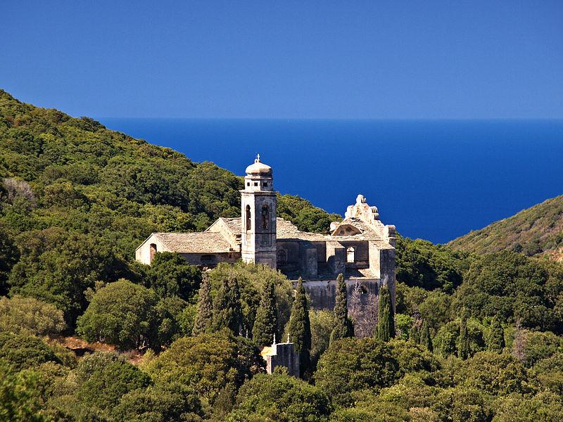 Photo du Monument Historique Eglise Saint-André de Granaggiolo et son clocher situé à Ersa