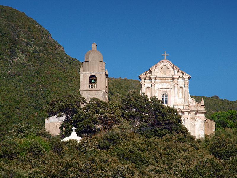 Photo du Monument Historique Ensemble paroissial Saint-Cyprien, au hameau de Muchieta situé à Morsiglia