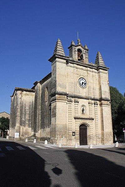 Photo du Monument Historique Eglise Saint-Martin situé à Aujargues