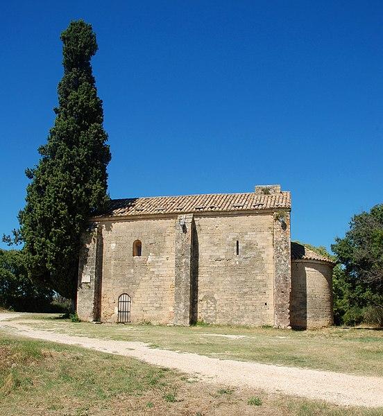 Photo du Monument Historique Chapelle Saint-Caprais situé à Castillon-du-Gard
