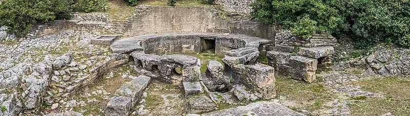 Photo du Monument Historique Château d'eau romain ou Castellum Divisorium situé à Nîmes