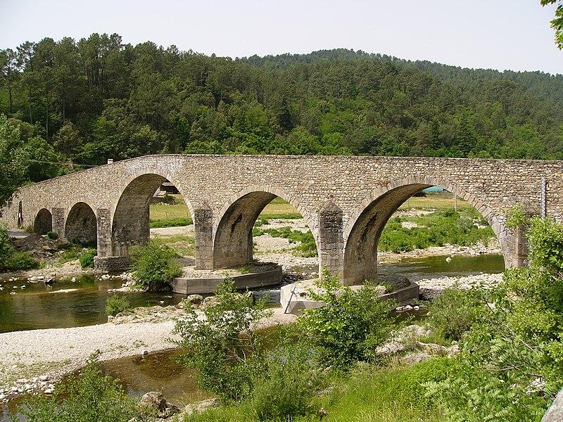 Photo du Monument Historique Pont sur le Gardon situé à Saint-Jean-du-Gard