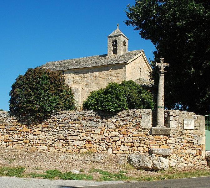 Photo du Monument Historique Ancienne église paroissiale Saint-Martin-de-Jussan situé à Tresques