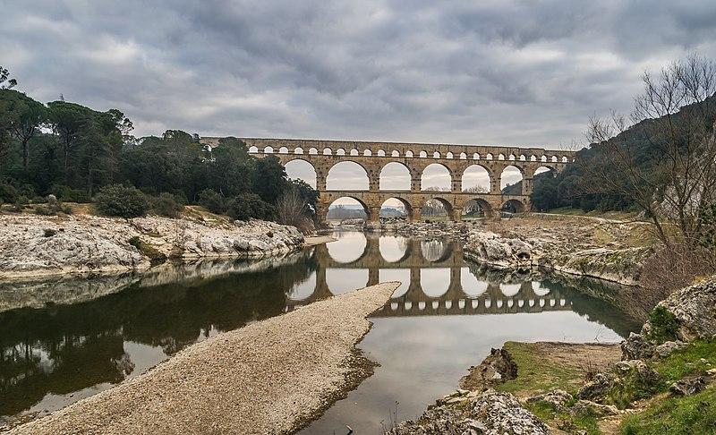 Photo du Monument Historique Pont du Gard et aqueduc romain de Nîmes situé à Vers-Pont-du-Gard