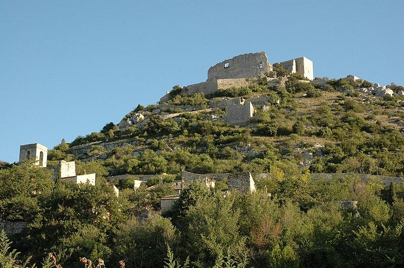 Photo du Monument Historique Ruines du Castellas situé à Saint-Victor-la-Coste