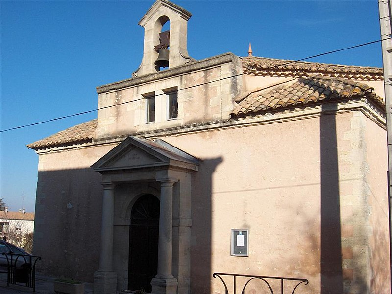 Photo du Monument Historique Temple protestant situé à La Calmette