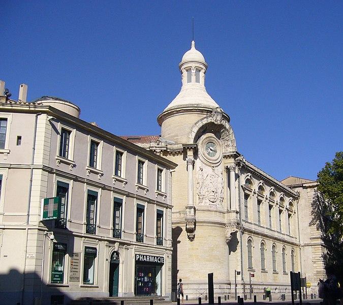 Photo du Monument Historique Ancien hospice devenu palais des arts, puis agrandi en lycée, actuel lycée Alphonse Daudet situé à Nîmes