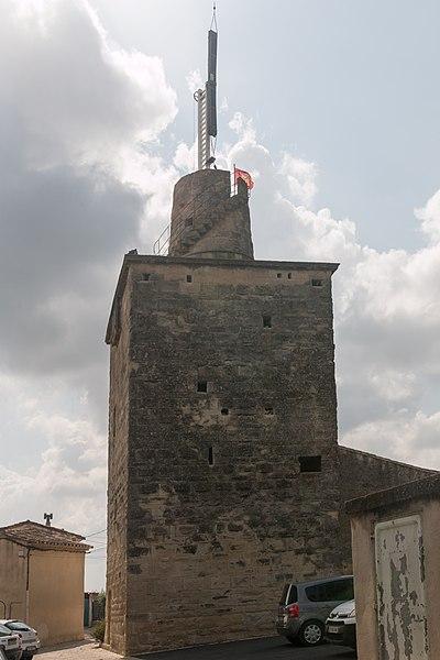 Photo du Monument Historique Tour médiévale, anciennement appelée tour romaine situé à Gallargues-le-Montueux