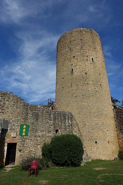 Photo du Monument Historique Ruines du château situé à Aurignac