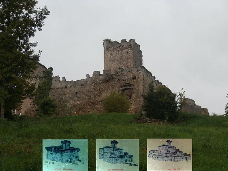 Photo du Monument Historique Restes du château situé à Montespan