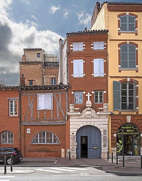 Photo du Monument Historique Maison de saint Dominique et chapelle des Réparatrices situé à Toulouse