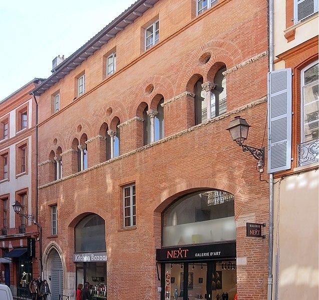 Photo du Monument Historique Immeuble dit Maison romano-gothique situé à Toulouse