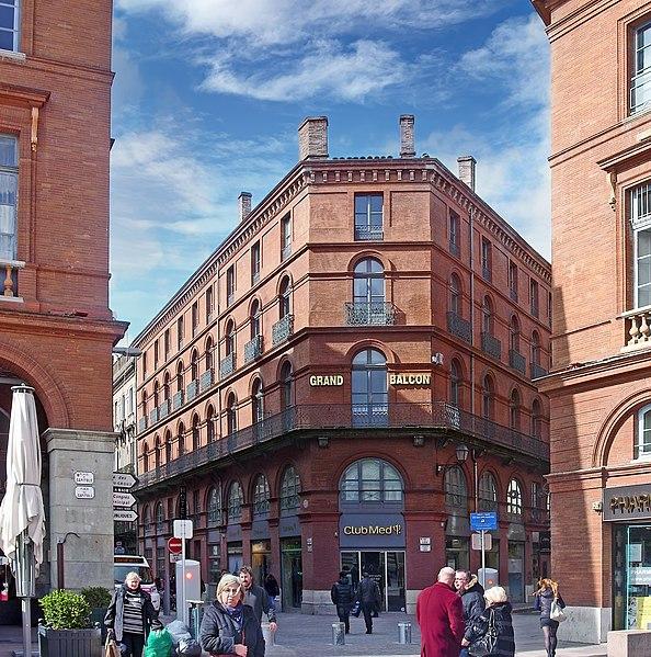 Photo du Monument Historique Hôtel du Grand Balcon situé à Toulouse