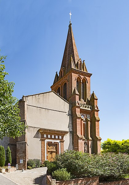 Photo du Monument Historique Eglise Saint-Martin situé à Castelnau-d'Estrétefonds