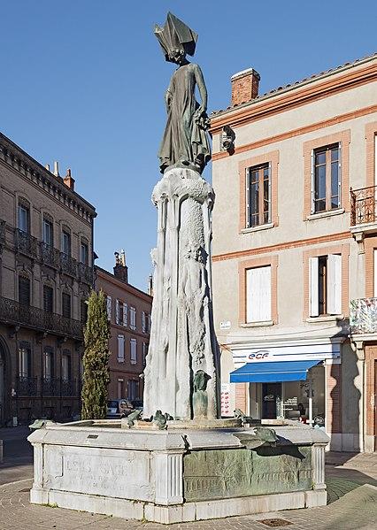 Photo du Monument Historique Fontaine de la Poésie romane situé à Toulouse