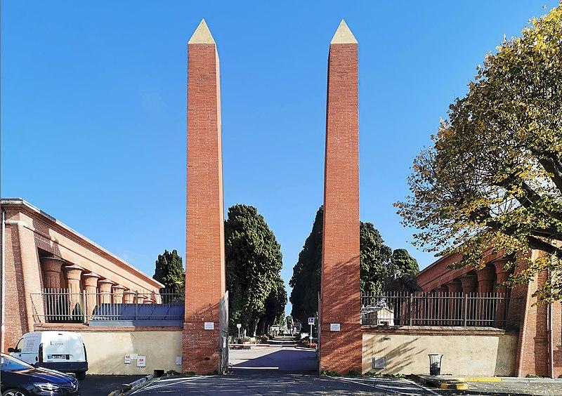 Photo du Monument Historique Entrée du cimetière de Terre-Cabade situé à Toulouse