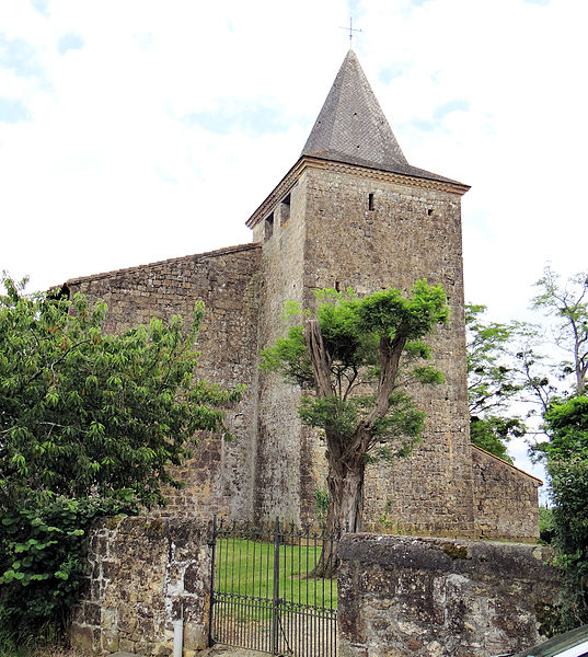Photo du Monument Historique Eglise Saint-Jacques de Fromentas situé à Aignan