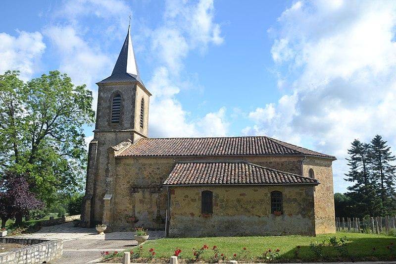 Photo du Monument Historique Eglise d'Auban situé à Castelnavet