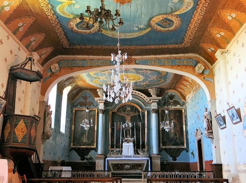 Photo du Monument Historique Eglise de Heux situé à Larroque-sur-l'Osse