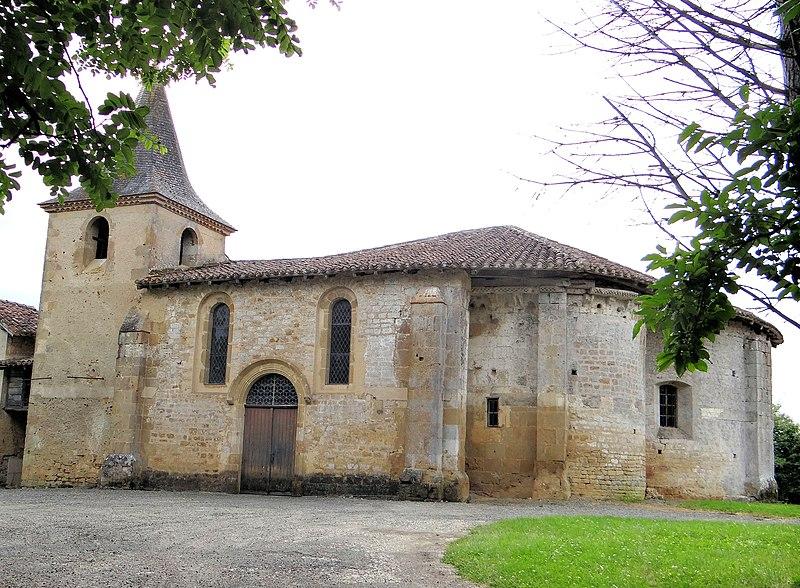 Photo du Monument Historique Eglise Saint-Ausit de Croûte situé à Lasserade