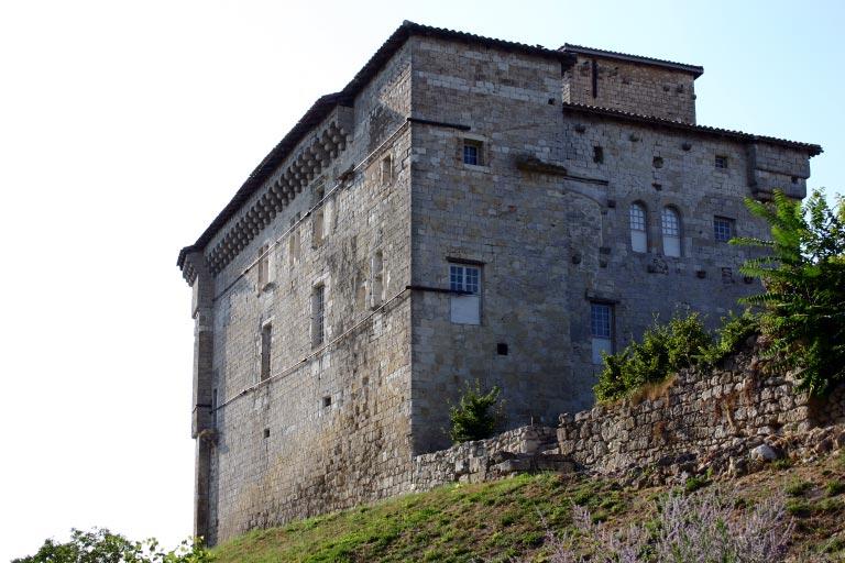 Photo du Monument Historique Château de Plieux situé à Plieux