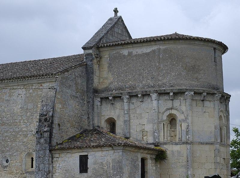 Photo du Monument Historique Eglise Saint-Pierre d'Espessas situé à Aubie-et-Espessas