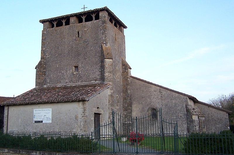 Photo du Monument Historique Eglise Saint-Laurent de Birac situé à Birac