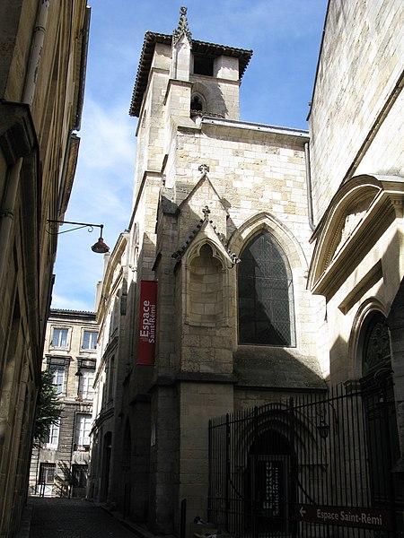 Photo du Monument Historique Eglise Saint-Rémi situé à Bordeaux