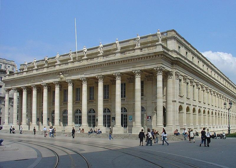 Photo du Monument Historique Grand théâtre situé à Bordeaux