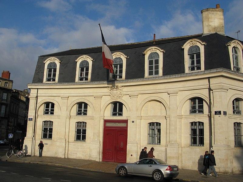 Photo du Monument Historique Hôtel de la Marine situé à Bordeaux