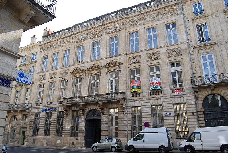 Photo du Monument Historique Hôtel Piganeau situé à Bordeaux