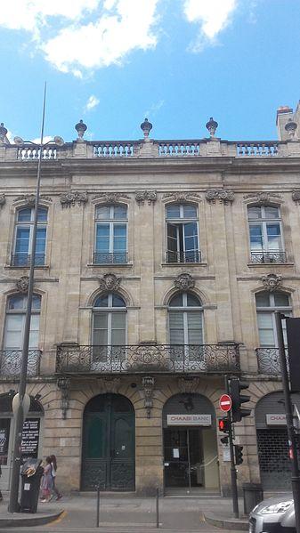 Photo du Monument Historique Ancien Hôtel Raba situé à Bordeaux