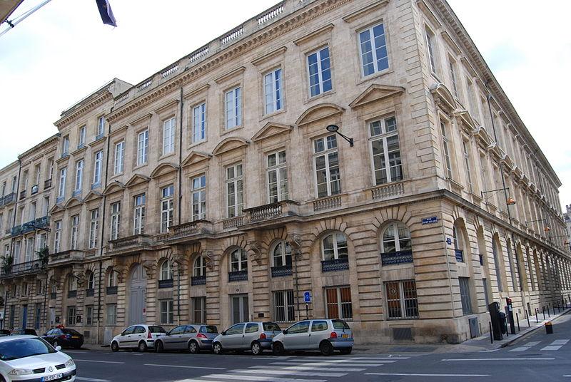 Photo du Monument Historique Ancienne préfecture de Gironde (composée de maisons et des hôtels Saige et Legrix) situé à Bordeaux