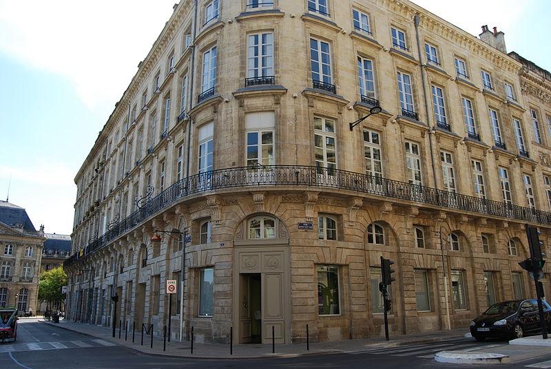 Photo du Monument Historique Hôtel situé à Bordeaux