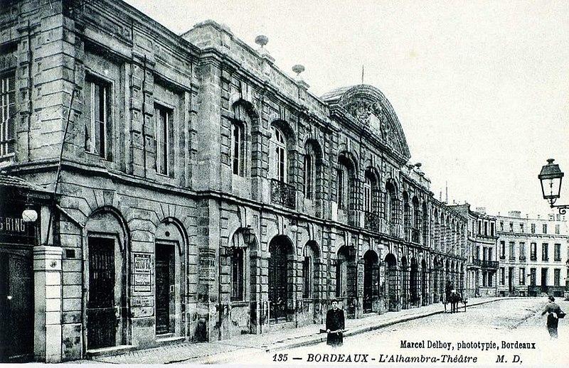 Photo du Monument Historique Théâtre de l'Alhambra situé à Bordeaux