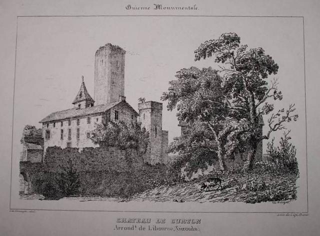 Photo du Monument Historique Château de Curton situé à Daignac