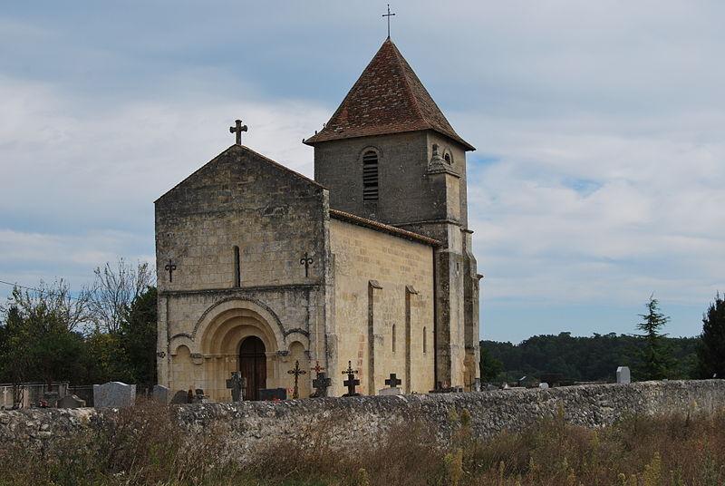 Photo du Monument Historique Eglise Saint-Pierre de Tourtirac situé à Gardegan-et-Tourtirac