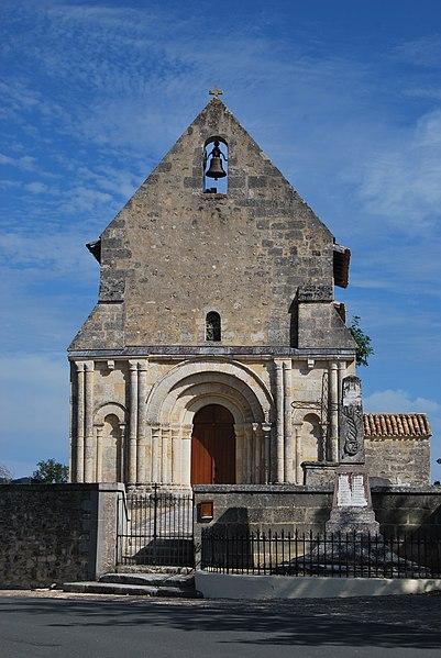 Photo du Monument Historique Eglise Saint-Pierre situé à Gours