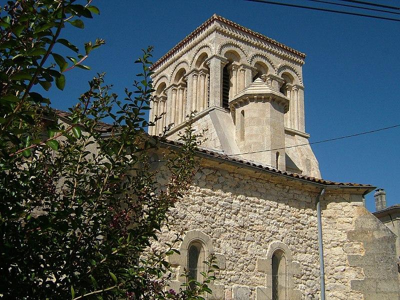 Photo du Monument Historique Eglise Saint-Sulpice de Lafosse situé à Pugnac