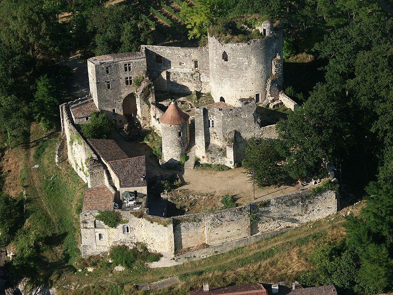 Photo du Monument Historique Restes du château situé à Langoiran