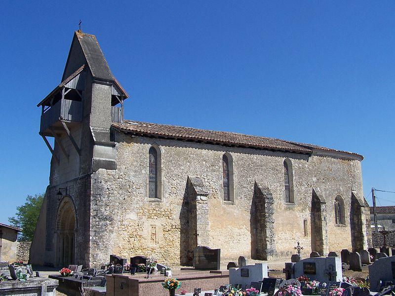 Photo du Monument Historique Eglise Saint-Christophe situé à Léogeats