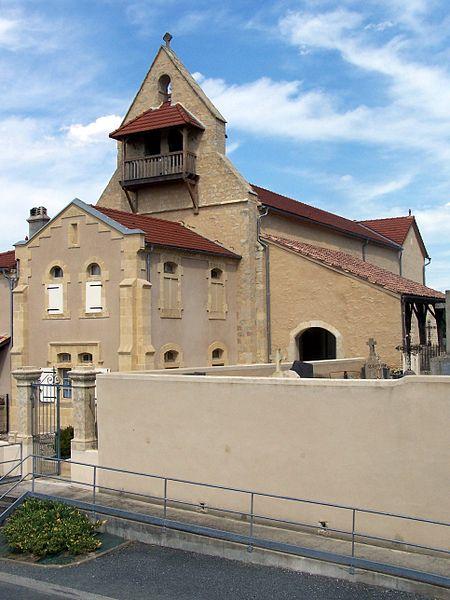 Photo du Monument Historique Eglise Sainte-Croix situé à Loupiac-de-la-Réole