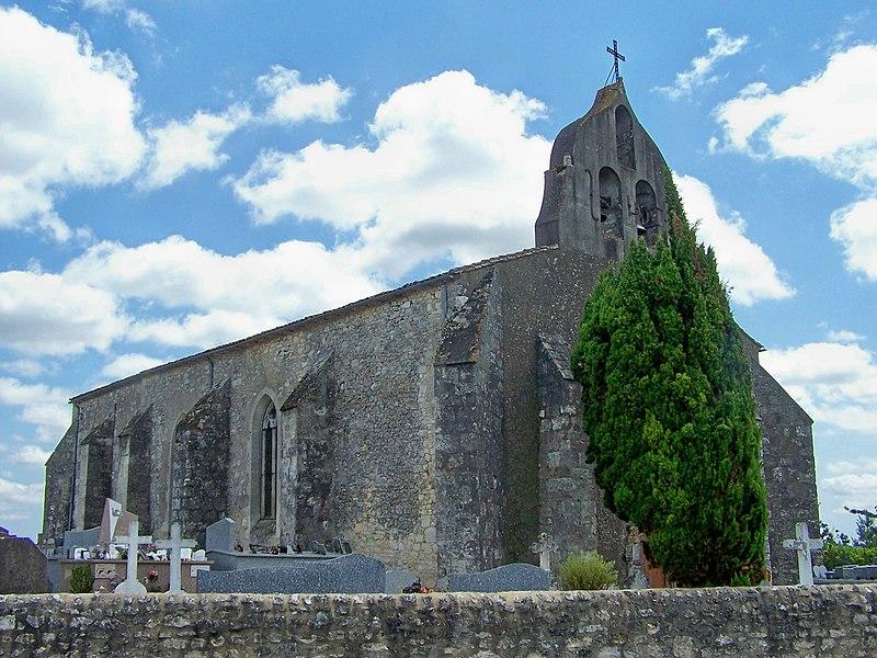 Photo du Monument Historique Eglise Saint-Martin situé à Margueron