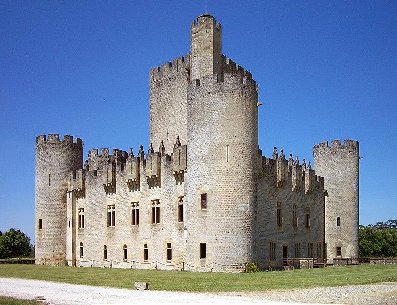 Photo du Monument Historique Domaine de Roquetaillade situé à Mazères