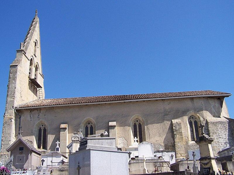 Photo du Monument Historique Eglise Saint-Jean situé à Mongauzy